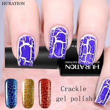 Huration 8ml Soak Off Gel Varnish 12 Colors Crackle Crack Gel Nail Polish Cracking Shatter UV LED Nails Art Glue(China)