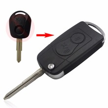 10Ps/LOT For Ssangyong Actyon SUV Kyron 2 Buttons Flip Remote Car Key Case Shell Cover  No Logo
