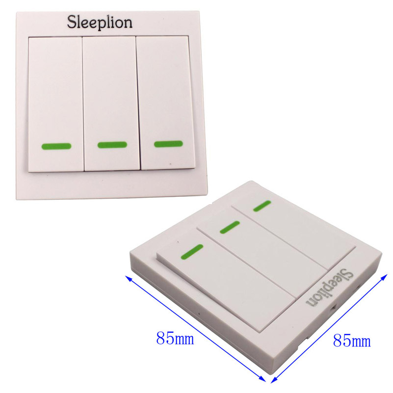 Sleeplion Home 220V 10A Relay wireless Wall Remote Control Switch Transmitter+3 Receiver Teleswitch Module