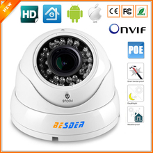 720P 960P 1080P Vandal-Proof IP Camera PoE Vari-Focal Lens 2.8MM-12MM 3X Manual Zoom Security Camera PoE 1.0MP 1.3MP 2MP IP CCTV(China)
