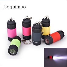 Ultra Bright Flashlight Portable Mini USB Rechargeable Led Light Lighting Lamp Flashlight Torch Keychain LED Light 5 Color