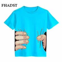 FHADST 2017 New Summer Boys T Shirts 4 Pattern Style Cartoon 3D Style Printing Short Children's T-Shirts Kids Clothes Child Tee