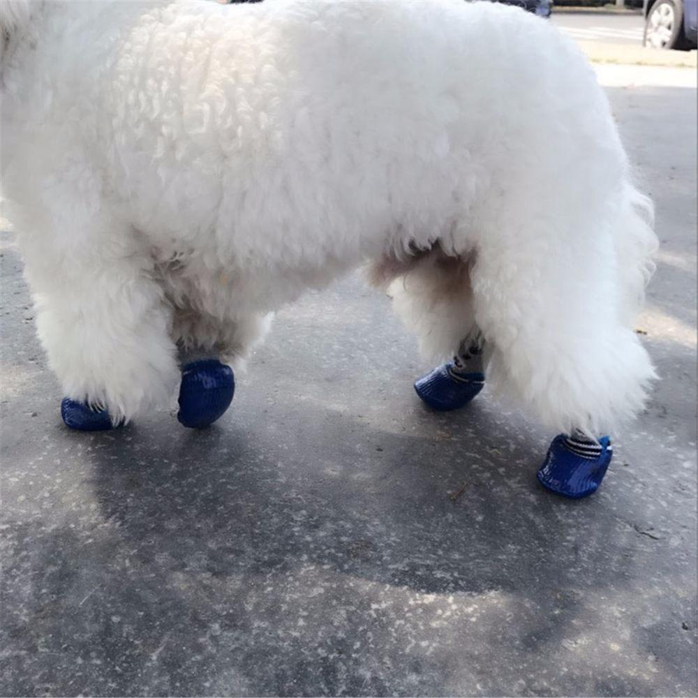 Pet-Boots-Socks-S-M-L-Size-Dog-Waterproof-Rain-Shoes-Non-slip-Rubber-Puppy-Shoes