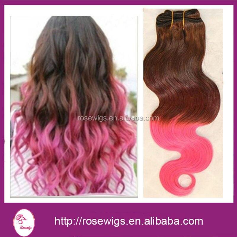 6A  pink ombre two tone hair Brazilian body wave virgin hair extensions 3pcs/lot, ombre brazilian human hair bundles weaves<br><br>Aliexpress