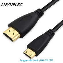30cm 1M,1.5m,2M,3M,5M High speed Gold Plated HDMI TO MINI HDMI Plug Male-Male HDMI Cable 1.4 Version 1080p 3D for TABLETS DVD