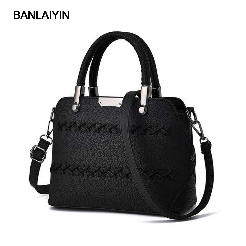 Korea High Quality Vintage Women Leather Top-handle Handbags Retro Shoulder Bags Ladies Girls Messegner Bag Sling Shell Bags<br>
