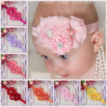 Christmas Gift Baby Flower Headband Solid Color Girl Children Infant Baby Hairband Hair Accessories Elasticity(China)