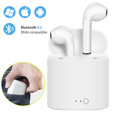 I7s TWS Mini Wireless Bluetooth Kopfhörer Stereo Ohrhörer Headset Mit Lade Box Mic Für Iphone Xiaomi Alle Smart Telefon air schoten(China)
