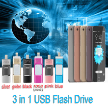 Micro Dirve Metal memory stick mobile Otg USB 2.0 for iPhone 6/6 Plus 5S ipad FLASH Drive 16G 32GB 64GB pendrive 1tb usb