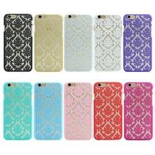 Luxury Hard Plastic Back Cover Case For Apple iPhone 5 5S SE 4 4S Damask Vintage Flower Back Cover Case for iPhone 7 6 6s Plus