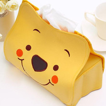 Length 23CM hellokitty Winnie the Pooh Cute Home Car Tissue Case Box Container Towel Napkin Papers BAG Holder BOX Case Pouch