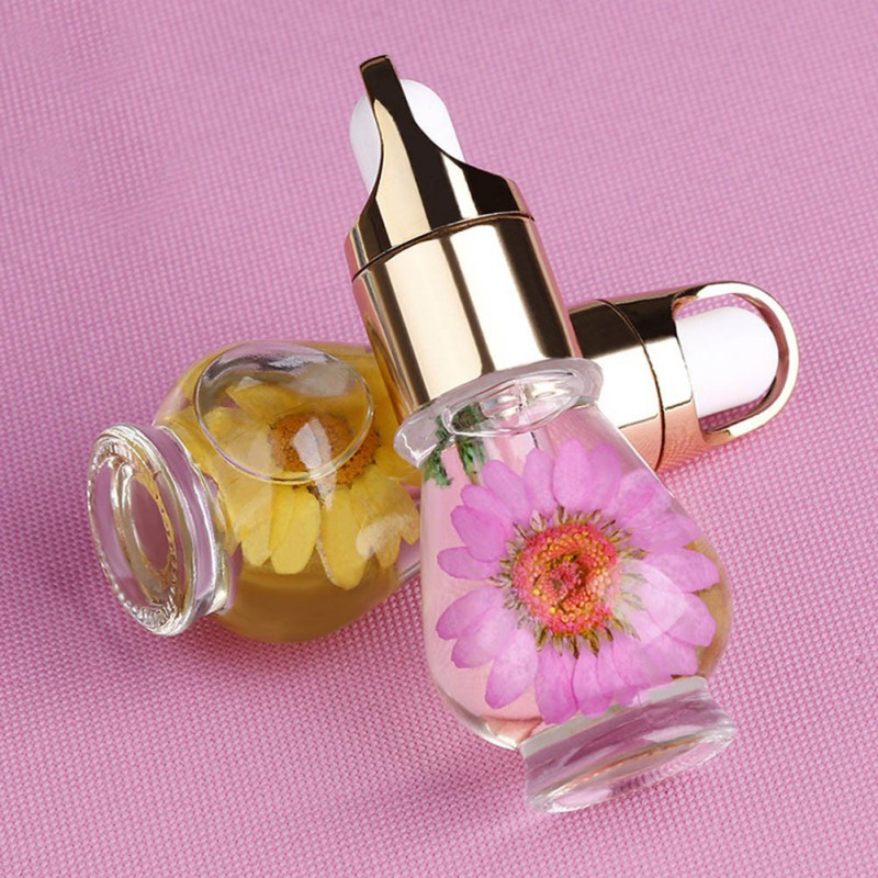 15mL Nutritional Nail Polish Oil UV Gel Dry Dried Flowers Nourishment Oil Nail Cuticle Tools Nail Treatment 1 Bottle 1