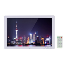 "Andoer 17"" LED Digital Photo Frame 1440*900 Scroll Caption 1080P Advertising Calendar Alarm Clock MP3 MP4 w/Remote Control(China)"