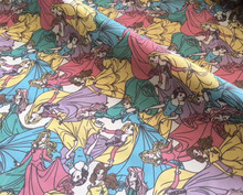 Beauty and the Beast Mermaid princess princess polyester cotton fabric for Tissue Kids Bedding textile for Sewing Tilda Doll