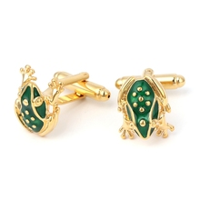 Classic Frog Mens Wedding Party Shirt Cuff Links Cufflinks Business Groom Gift(China)