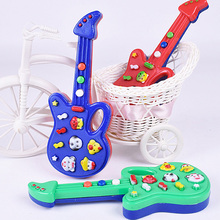 Color Random Cute Cartoon Guitar Animal Electronic Guitar Toy Nursery Rhyme Music Children Baby Gift Toy Guitar  Instrument