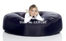 Cover only No Filler- Original island round bean bag cushion sofa - outdoor hammock - black(China)