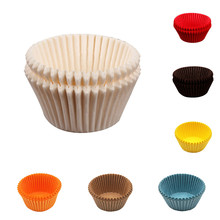 100PCS Cake Grease-proof Mini Paper Baking Cup Bottom Maffin Colorful Muffin Liner Cases Cooking Cupcake Mold tools