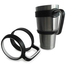 Rubber design Antislip Cup Handle for 30 Oz YETI Rambler Tumbler Rtic Sic Cup Travel Drinkware(China)