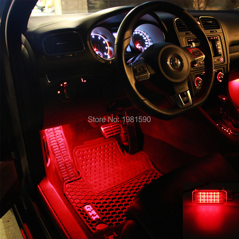 VW footwell courtesy step truck light LED red blue white (5)