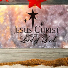 Christmas Decoratiion For Home Jesus Christ Lord Of Lord Wall Sticker Merry Xmas Coffee Shop Bedroom Hotel Home Decor(China)