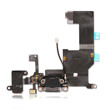 1pcs Black / White Charger Charging port Dock USB Connector Data Flex Cable For iPhone 5 5g Headphone Jack Flex Ribbon
