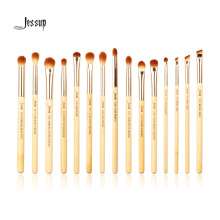Jessup Brand 15pcs Beauty Bamboo Professional Makeup Brushes Set Make up Brush Tools kit Eye Shader Liner Crease Definer Buffer(China)