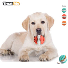 Pets Dog Toys Ball Puppy Chew Training Toy Pets Food Container Balls Rubber Soft Molars Small Dogs Toys Pet Supplies(China)