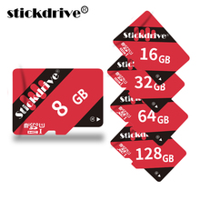 New Micro SD Card 8GB Red mini sd card 16 GB 32GB 64GB 128G Class 10 Memory Card Flash Memory for cell Phones Tablet Camera