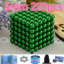 216pcs 5mm neodymium magnetic balls spheres beads magic cube magnets puzzle birthday present Buck yballs Neo cube