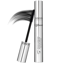 Qibest Mascara Waterproof Non-Smudge Silicone Brush Rimel 3d Colossal Curling Black Mascara Fibre Eye Makeup Silver Tube(China)