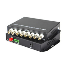 High Quality HD CVI 8 Channel Video Fiber Optical Converters Transmitter Receiver -For 720P 960P AHD CVI TVI HD Cameras CCTV(China)