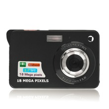 Black 9.5 * 6 * 2.5cm TF card JPEG / AVI CMOS Senor 2.7'' TFT LCD HD 720P 18MP Digital Camcorder Camera 8x Zoom Anti-shake