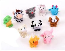 10 pcs/lot hot Models cute Animal Finger Puppet finger puppet toy(China)