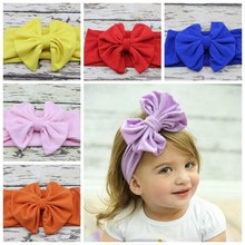 new  hair accessory Head wrap Blended cotton fabric Headwrap Big Bow  head band stretchy Turban Twist flower Hairband FD6542