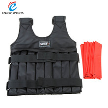 Adjustable Max Loading 20kg Weighted Vest Weight Jacket Exercise Boxing Training Waistcoat Invisible Weightloading Sand Clothing(China)