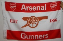 Arsenal Gunners football team Flag Hot Sell Goods 3X5FT 150X90CM Banner brass metal holes