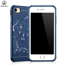 Soft TPU Phone Case For Apple iPhone 7 7G Case Silicone Cell Phone Skin Dragon Embossed For iphone7 iPhone7G Cover Durable Shell