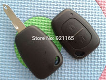 ZABEUDEIR 1pcs of New Replacemnet Key blank For TRAFIC, VIVARO, MASTER KANGOO 2 buttons Remote Key Fob case shell uncut blade(China)