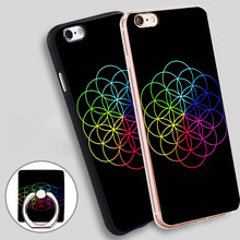 Coldplay Head Full of Dreams Phone Ring Holder Soft TPU Silicone Case Cover for iPhone 4 4S 5C 5 SE 5S 6 6S 7 Plus
