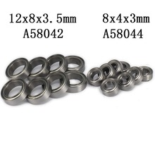 8pcs Steel Shield Ball Bearing 12x8x3.5mm/8x4x3mm For Rc Hobby Model Car 1/18 Wltoys a959 a969 a979 k929 Upgraded Hop-Up Parts