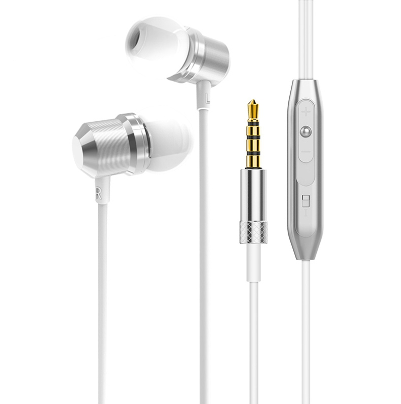 Ollivan Universal Magnet Earphones Metal Earphone With Microphone Stereo HIFI Headsets Magnetic Earbuds Subwoofer Audifonos