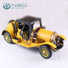NEO Handmade Metal Crafts Retro Gran Torino Vintage Classic Runabout Vehicle Car Model Statue Prop Home Office Decor Ornaments