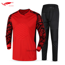 Top Sale 2017 New Men Football Soccer Jerseys Goal Keeper Sets Long Sleeved Professional Breathable Goalkeeper Soccer Uniforms(China)