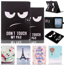 For Cover Apple iPad 2 iPad 3 iPad 4 Smart PU Leather Tablet Case Stand Flip Cute Kids Cover Screen Protector Film Stylus Pen