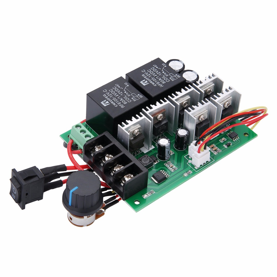 DC10V-40V 12V 24V 36V 5A PWM DC Motor Speed Controller CW CCW Reversible Switch