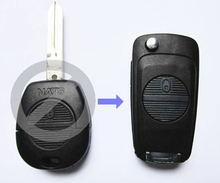 2 BUTTONS MODIFIED FLIP FOLDING REMOTE KEY SHELL FOR NISSAN ALMERA PRIMERA X-TRAIL A33 FOB KEY CASE BLANKS(China)