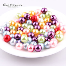 2017 New Beautity 17 colors 6mm 200pcs have hole Round Pearl Imitation Glass Beads For DIY jewelry Making Crafts Accessory