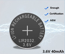ENTEMPLE LIR2032 3.6V Button battery Rechargeable battery Replace the CR2032 For Bluetooth headset hearing aid is use