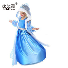 Christmas Anna Elsa Princess Girl Dress Cosplay Party Costume Dress Snow Queen Children Clothing Baby Kids Dresses(China)